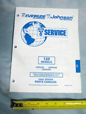 Johnson Evinrude 130HP Models Outboard Boat Motor Parts Catalog P/N 437495