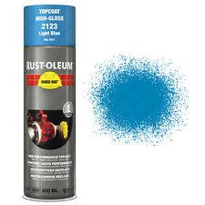 x 12 INDUSTRIEL Rust-Oleum bleu clair peinture en aérosol solide CHAPEAU 500ml