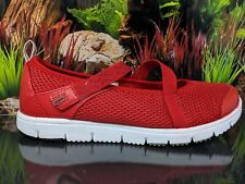 Propet Travel Walker W3242 Red Mary Jane Flat Comfort Shoes Womens Size 7 2E (EE