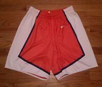 New Nike Women's M Clemson Tigers Recruit Reversible Mesh Short Orange / White
