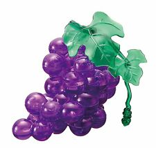3D Crystal  Puzzle Jigsaw Puzzle Grape 46 pieces FROM  JAPAN