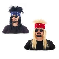 Heavy Metal 80's HESHER GLAM Motley Crue Poison Black Blonde Costume WIG