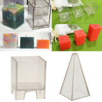 2Pcs Plastic Clear Candle Making Model Candle Mould DIY Soap Mold Craft Tool