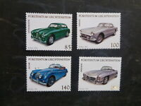 LIECHTENSTEIN 2013 SPORTS & TOURING CARS SET 4 MINT STAMPS
