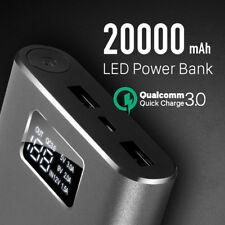 New Quick Charge QC3.0 20000mAh Dual USB Charger LCD Display Power Bank