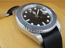 40mm Parnis Green GMT Automatic Movement Men's Watch Rotating Bezel Nylon Band