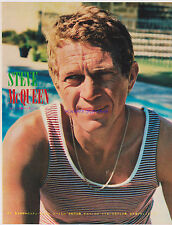HUNKY STEVE MCQUEEN AND SEXY JANE FONDA 2 SIDED 1960S JAPAN FILM MAG CLIPPING