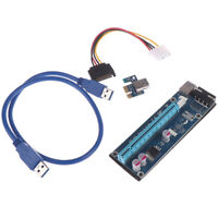 VER006 PCI-E Riser Card PCIE 1X to 16X Extension Adapter USB3.0 cable for Mi_ti