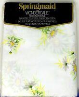 Vintage Springmaid Wondercale Percale Retro Daisy Double Flat Sheet NEW NIP