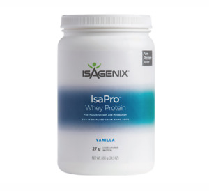 Isagenix IsaPro 27g Whey Protein Canister Muscle Growth MealReplacement FreePost