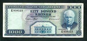 Iceland (P41) 1,000 Korun 1957