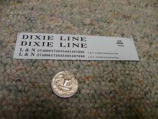 Herald King decals HO Louisville Nashville Dixie Line black   XX127