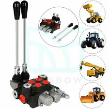 Hydraulic Control Valve 2 Spool 11gpm Double Actingtractor Loader With Joystick