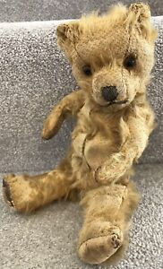 Antique Vintage Chiltern Mohair Jointed Teddy Bear Well Loved Needs TLC British