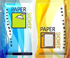"""NEW Paper Shower Original Body Wipes Wet & Dry Towelettes 10""""x12"""" Towels 3-Pack"""