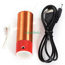 5V Super Mini Tesla Coil Wireless Transmission Portable Magic Prop Toy JX01 S@US