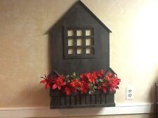 Handmade Wooden Indoor Or Outdoor Planters Box Accented Dark Tone gray wood