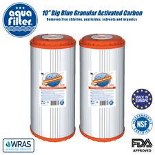 "2 Carbono Filtro De Agua 10"" GAC activado granular de coco shell Aquafilter"