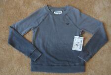 TRUE RELIGION BASEBALL STITCH RAGLAN PULLOVER OMBRE GRAY Sweatshirt S NWT$148