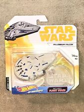 Star Wars Hot Wheels Millennium Falcon Starships With Flight Stand