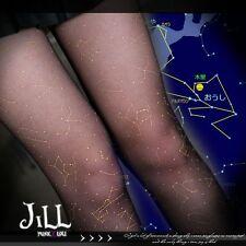 street punk zodiac constellation horoscope galaxy print tattoo pantyhose【J1D011】