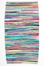 Tapis rectangulaire avec un motif Rayé pour la maison, 70 cm x 140 cm