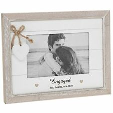 engagement picture frames engraved engagement frame wooden provence range white washed wood lovely gift driftwood rectangle picture frames for sale ebay