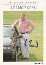 Uli Hoeness FC Bayern München 90/91 seltene Opel Autogrammkarte signiert 1990/91
