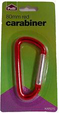 Key accessory 80mm Red Carabiner Keyring Key Ring Key Chain Bulk Clearance