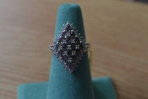 2.95ct AAA Color Change Garnet / Zircon Ring Platinum over Fine Silver Size 6