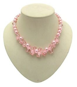 Pink Bead Necklace Chunky Pink Jewellery Design 706