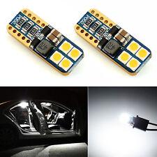 JDM ASTAR 2x T10 194 3030 6000K White Back up Reverse License Plate Light Bulbs