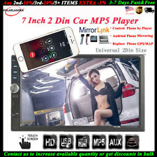 7'' 2 DIN Touch Screen Car Radio Stereo MP5 TF/AUX/USB/FM/Remote Audio Bluetooth