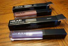 NIB! HIKARI LOT Matte Lip Gloss Au Naturel & Iridescent Lip Gloss Titanium