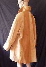 Giorgio Mobiani Light Beige Leather Coat Size L