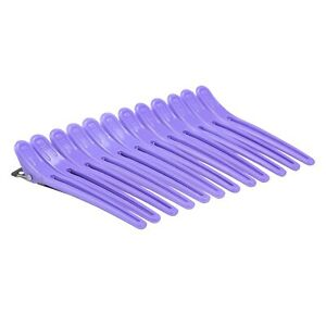 12Pcs Hair Grip Clip Hairdressing Sectioning Cutting Clamp Plastic Salon Styling