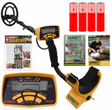 """New Garrett Ace 250 Metal Detector with 6.5"""" x 9"""" Waterproof Search Coil"""