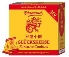 50 Glückskekse einzeln in Goldfolie verpackt - Marke DIAMOND