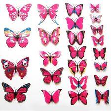 12pcsRhodo 3D Butterfly Wall Sticker Art Design Decal Room Decor Home Decoration