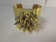 JOOMI LIM Rhodium Gold Silver Spike Cuff Bracelet NWOT $310
