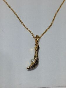 "small New Jai alai Sport Gold pendant with free 20"" inches necklace"