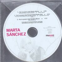 MARTA SANCHEZ NO TE QUIERO MAS REMIXES CD Single