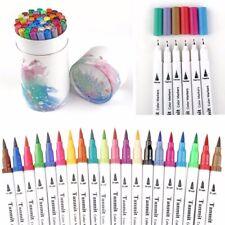 Aquarellstifte Dual Brush Pen 60 Farben Set Filzstifte Pinselstifte Fasermaler