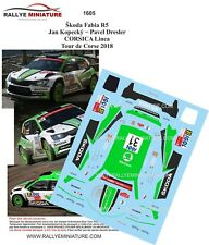 DECALS 1/32 REF 1605 SKODA FABIA R5 KOPECKY TOUR DE CORSE 2018 RALLYE RALLY WRC