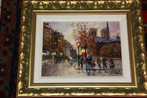 Robert Lebron Painting - Signed original oil Notra Dame