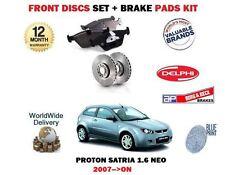 FOR PROTON SATRIA NEO 1.6 2007 > FRONT BRAKE 236mm DISCS SET + DISC PADS KIT