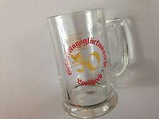 Lockheed Georgia Oktoberfest Glass Stein Beer VTG 1981 Mug 30th Birthday 80s Cup