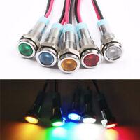 1/2pcs 5V 6mm Waterproof LED Pilot Panel Signal Warning Lighting Parts Lamps NEW