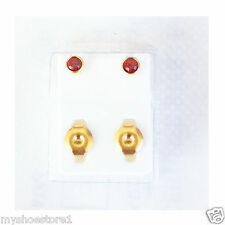 BRAND NEW EAR PIERCING STUDS EARRINGS STUD CERTIFIED STERILE GOLD SILVER COLOUR