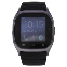 EK-C1 Montre Connectee Black Silicone Strap Smart Watch for Unisex